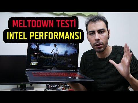 Intel Performans Kaybı Testi Güncelleme Sonrası Kayıp ve Sıkıntılar Meltdown ve Spectre Açıkları