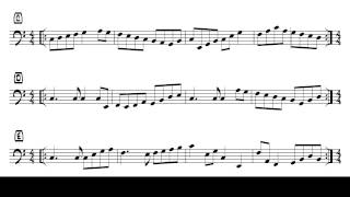 Tom Bornemann - Sightreading für E-Bass (Exercise #25)