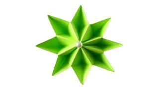 Origami flower Простой цветок из бумаги. Поделки оригами из модулей для начинающих
