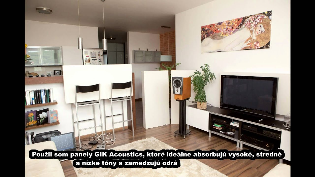 live room acoustics temporary treated living room 10494