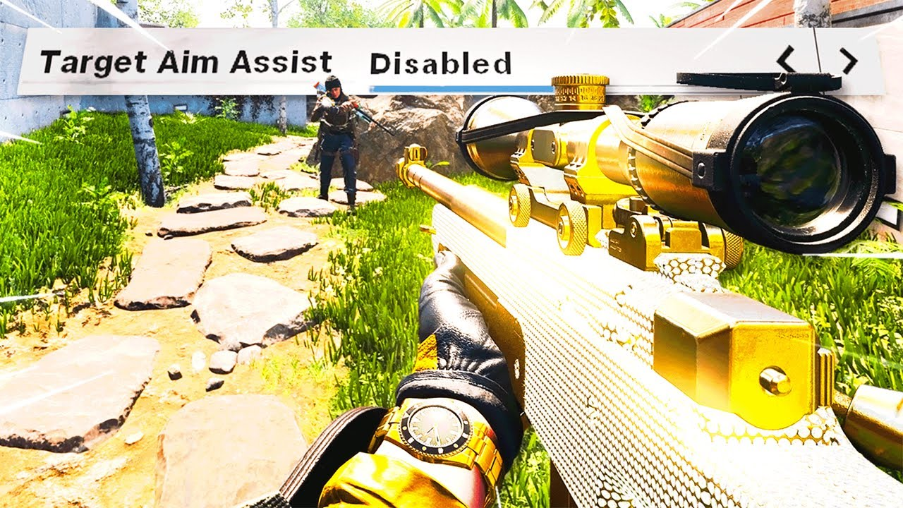 #1 SNIPER Turns Aim Assist OFF.. and they think I cheat lol