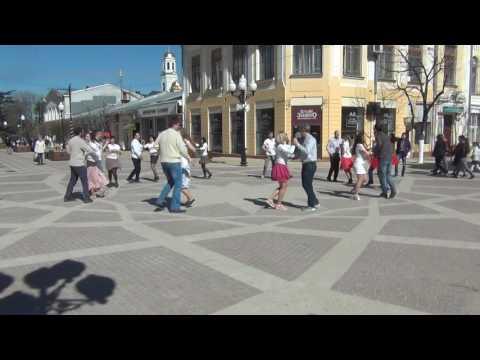International flashmob on rueda in Simferopol