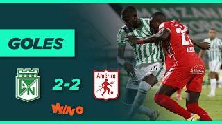 Nacional vs. América (2-2)   Liga BetPlay Dimayor 2021 1 - Fecha 8