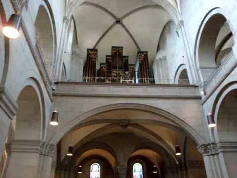 Practicing Organ in Zurich Grossmünster