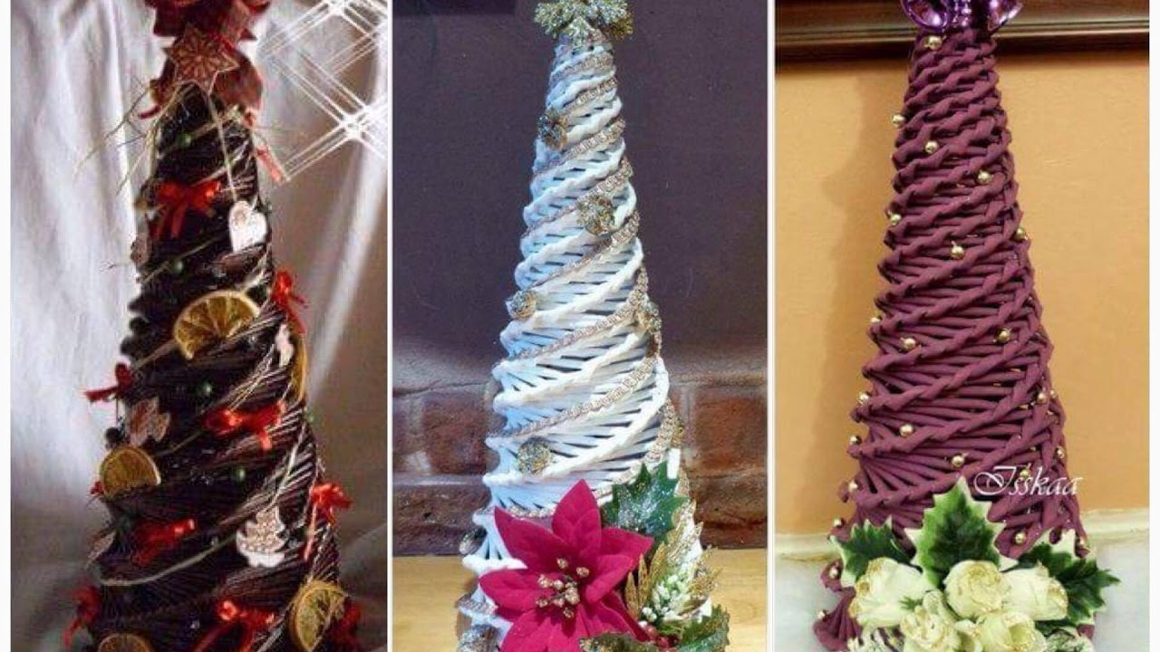 How To Make Christmas Tree By Paper News Paper Rolls