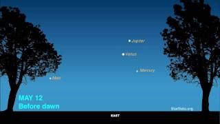 Four Planets Grace Morning Sky May 9-12