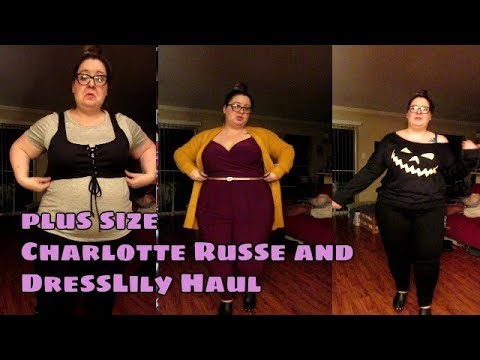 Plus Size Charlotte Russe And Dress Lily Haul Youtube