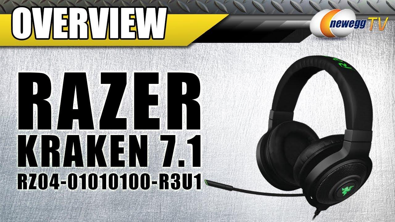 Razer Kraken 7 1 Circumaural Surround Sound Gaming Headset - Newegg com
