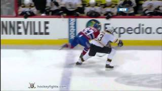 Zdeno Chara hits Max Pacioretty Mar 8, 2011