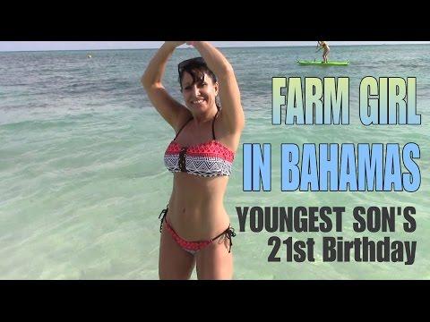 Almost 50 year old Farm Girl Dancing at Taino Beach Freeport Bahamas