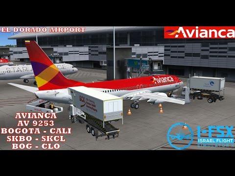 FSX BOGOTA - CALI AVIANCA PMDG 737-800