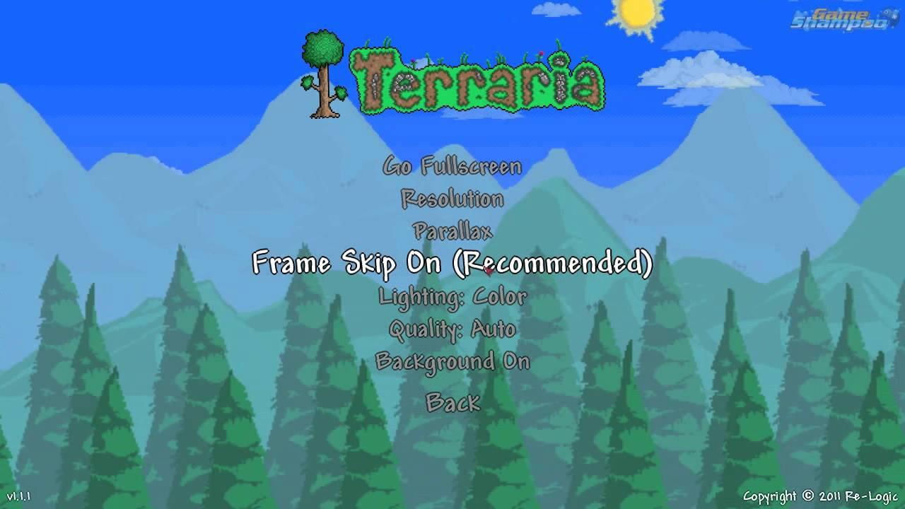 What does frame skip off frame skip on do in Terraria? - YouTube