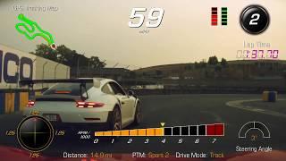 Chasing  Porsche GT2RS with C7 Corvette Z06 @ Sonoma Raceway