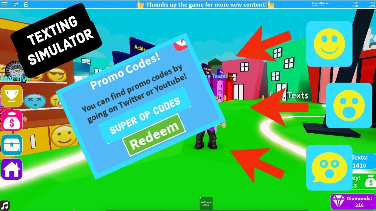 Roblox Texting Simulator All Newest Codes For This Game