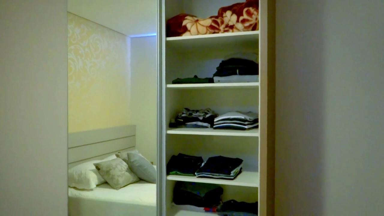 Meu quarto planejado apartamento pequeno youtube for Closets para apartamentos pequenos