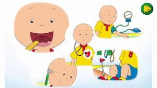 Каю проходит медицинский осмотр (Cartoon Caillou) Мультфильм для детей.