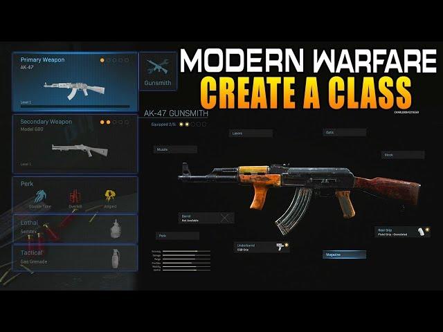 ▷ Call of Duty: Modern Warfare: how Create a Class works