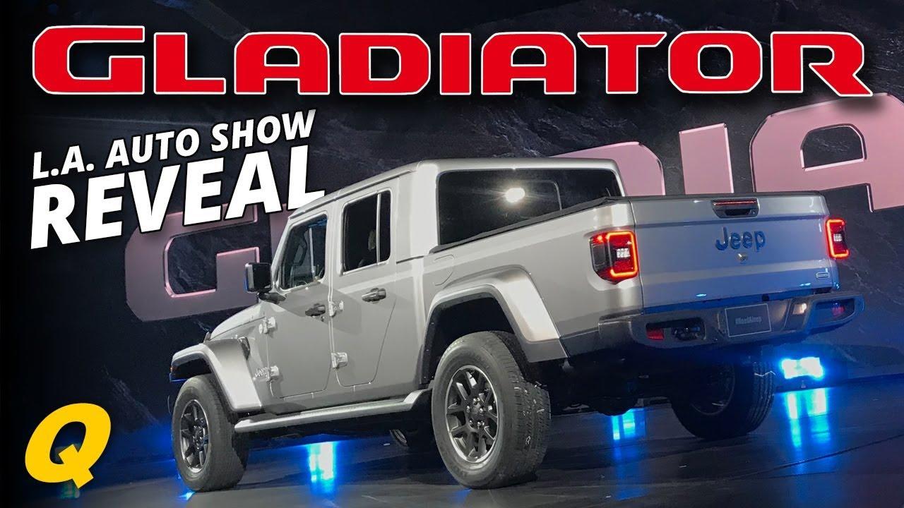 Jeep Gladiator Jt Truck Reveal Press Conference La Auto Show 2018