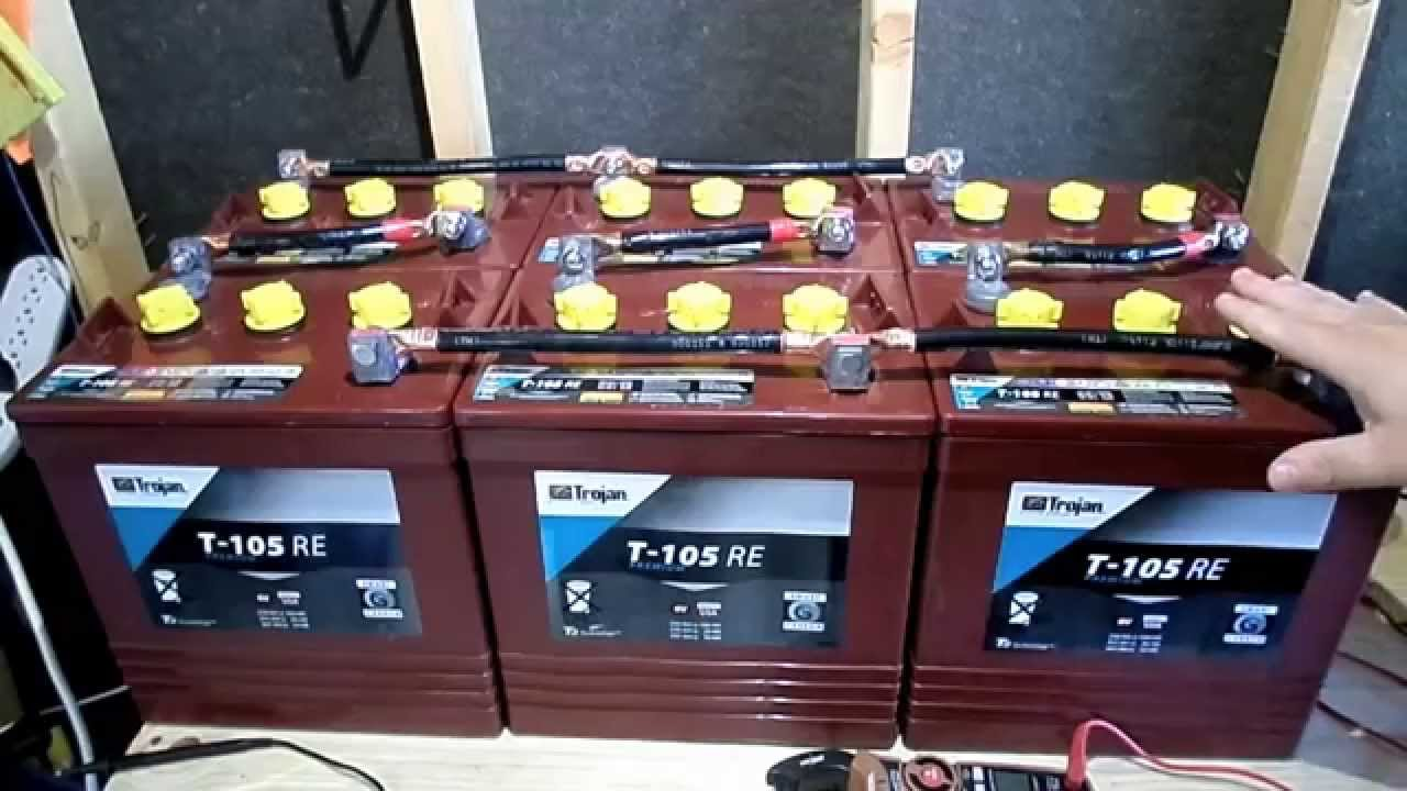 Battery Bank 6v 12v Series Parallel For RV Camper Van Solar Off Grid Cabin Tiny House  YouTube