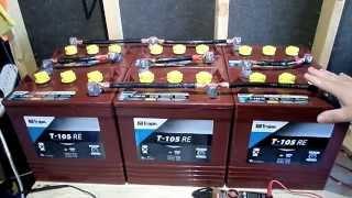 Battery Bank 6v 12v Series Parallel For RV Camper Van Solar Off Grid Cabin Tiny House