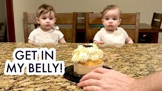 Baby Girls Eating Cake for the First Time! /// McHusbands