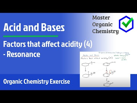 Factors that affect acidity (4)  - Resonance