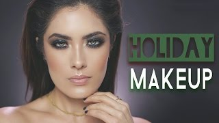 Emerald Green Holiday Makeup - ALL DRUGSTORE | Melissa Alatorre