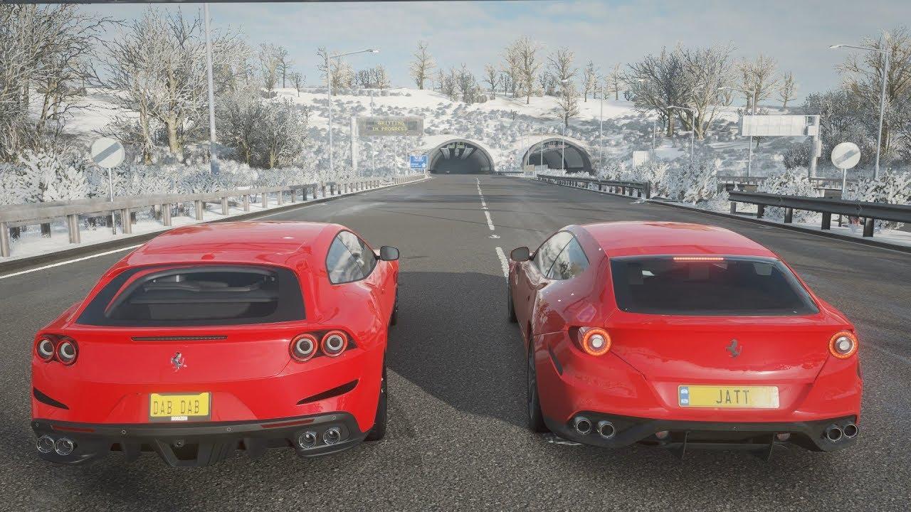 Forza Horizon 4 Ferrari Gtc4lusso Vs Ferrari Ff Drag Race Youtube