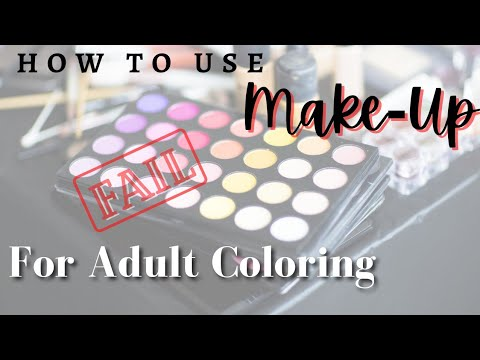 Easy Backgrounds w/ Make-up For Coloring Book | FAIL or Success Experiment? #adultcoloring #makeup