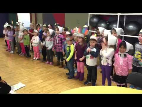"Bright Beginnings Preschool students sing ""Hello, Mr. Turkey"""