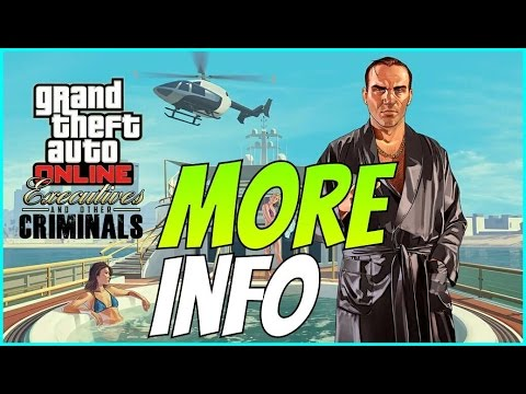 Gta 5 Executives and Other Criminals Dlc update information - Super Yatch - Mini Gun Limo