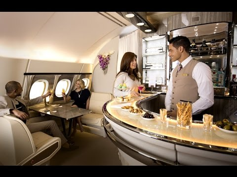 New A380 Onboard Lounge | Emirates Airline