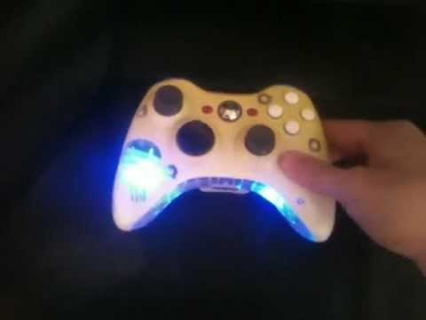 Custom Punisher Style Xbox Controller With Light Up Triggers