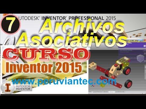CURSO INVENTOR 2015 -Autodesk Inventor 2015-07 Utilizar Archivos Asociativos Parte Ensamblaje Dibujo