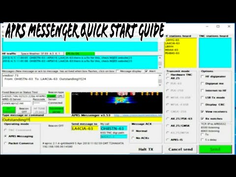 APRS Messenger Setup Guide - HFAPRS Weak Signal Messaging