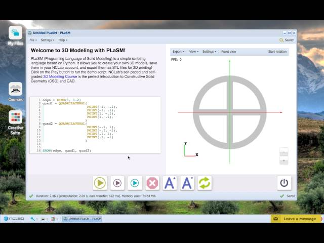 NCLab 3D Modeling: Creating Your Own Models with Creative Suite