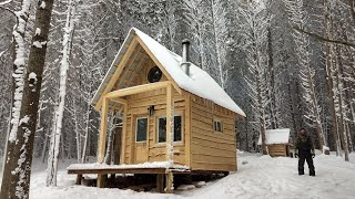 Building A Small Cabin In The Woods Complete Build!