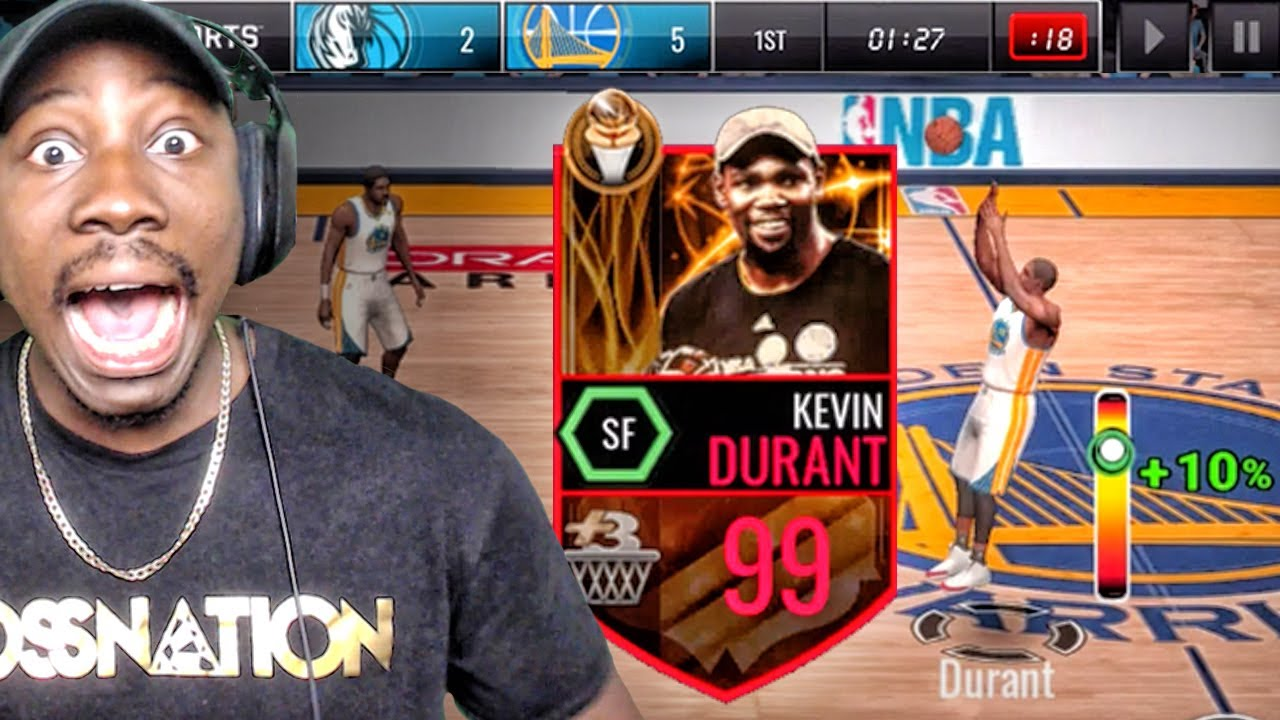 99 OVR FINALS MVP KEVIN DURANT IS NOT HUMAN! NBA Live Mobile 16 Gameplay Ep. 127 - YouTube