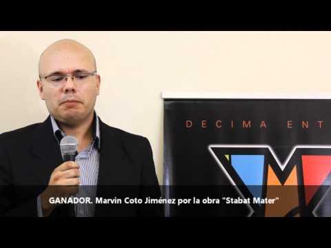Ganador Categoría Música Electroacústica Marvin Coto Jiménez Premios ACAM 2012