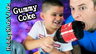 DIY Huge Gummy Coke! How to Make Gummy Coca-Cola and with HobbyGuy by HobbyFamilyTV