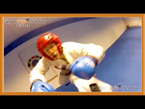 Taekwondo Sparring Session (GNT Vs Sam Pupic)   Ginger Ninja Trickster