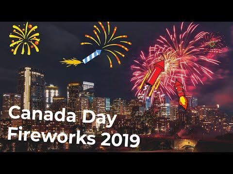 Canada Day Fireworks 2019 | Calgary 4K
