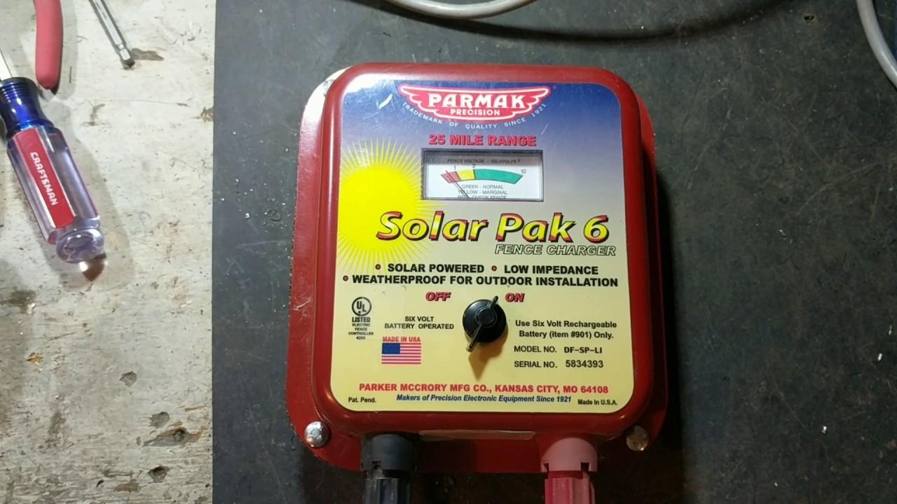 parmak solar pak 6 fence charger [ 1280 x 720 Pixel ]