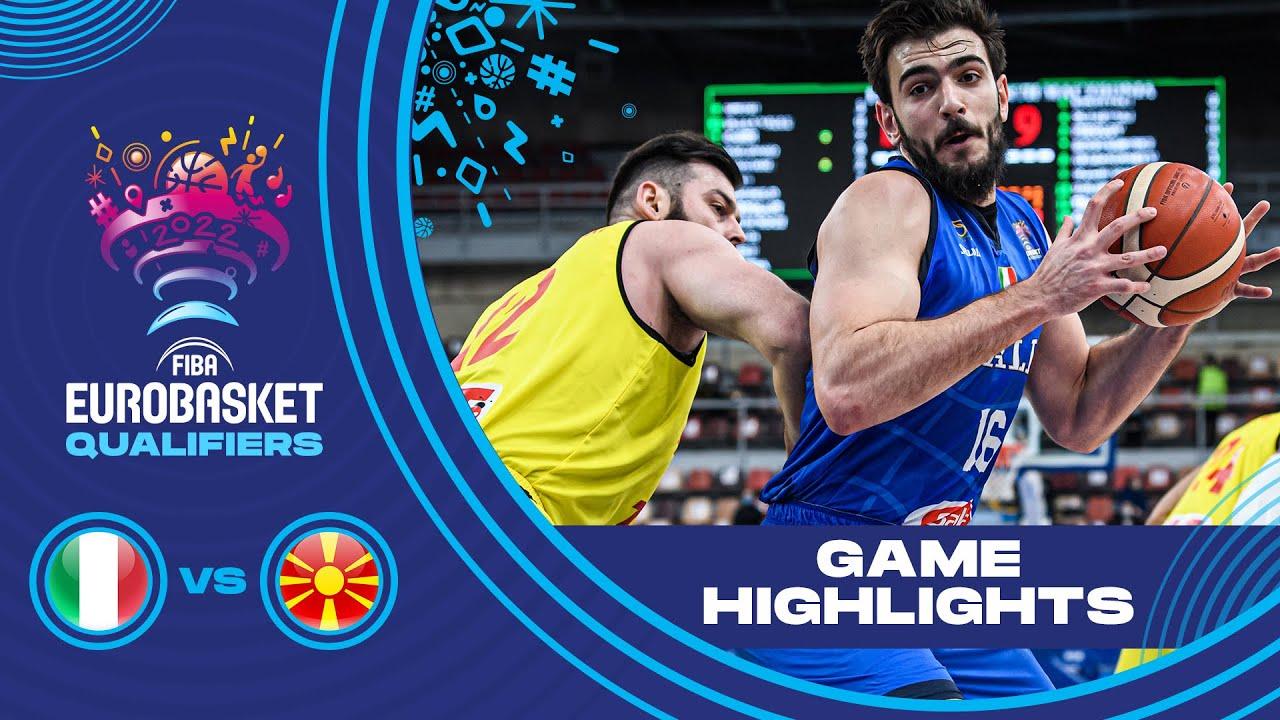 Italy - North Macedonia   Highlights - FIBA EuroBasket 2022 Qualifiers