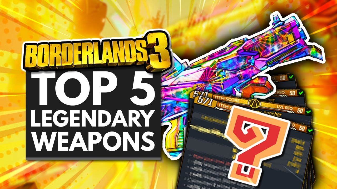 BORDERLANDS 3 | Top 5 Best Legendary Weapons thumbnail