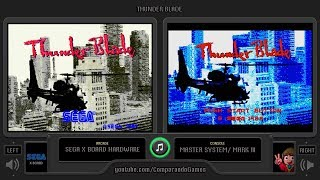 Thunder Blade (Arcade vs Master System) Side by Side Comparison