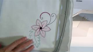 Viking EPIC 57 Embroidering a Design From Start to Finish