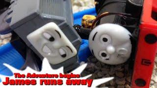 "Thomas and friends ""James runs away-The Adventure begins"" トーマス プラレール ガチャガチャ ジェームスのだっせん"