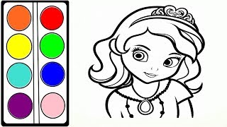 Sofia the First Cartoon coloring book for children  София Прекрасная мультик раскраска для детей