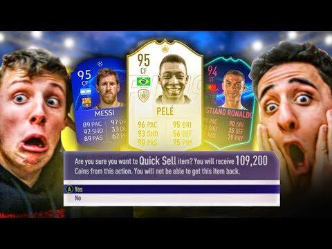 MESSI & RONALDO DISCARD CHALLENGE VS W2S (FIFA 19)